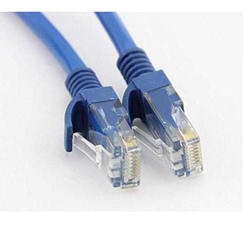 Blaues Ethernet Internet CAT5e Netzwerkkabel für Computer Modem Router (0.7m,Blau)