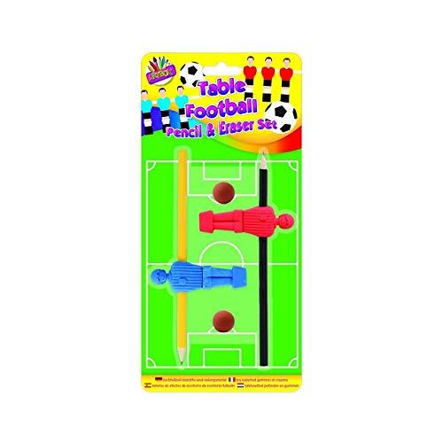 The Home Fusion Company Enfants Table Football Crayon & Gomme Caoutchouc Set Nouveauté Marrant Sac Soirée