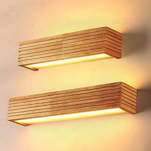 Wandlamp Moderne houten wandlampen badkamerspiegel lamp gang bed licht nordic huis verlichting wandlamp vintage wandlamp