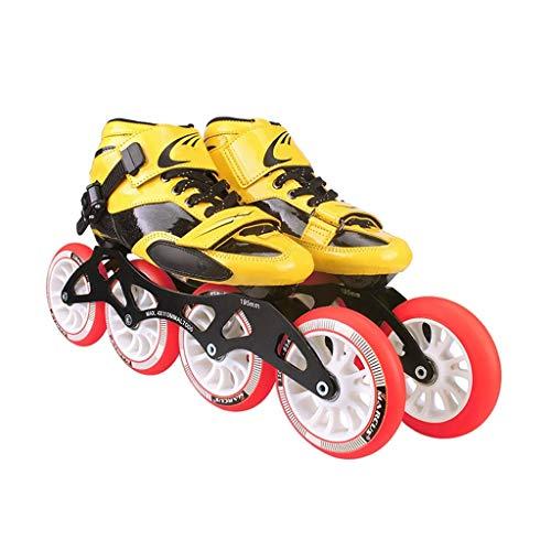 Taoke Inline-Skates, 90-110 mm Durchmesser hohe elastische PU-Räder, Verstellbare Inline Skates, (Farbe: Rot, Größe: 42) dongdong (Color : Red, Size : 42)