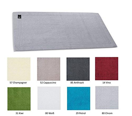 Ross Frottier Badteppich Bad-/Duschvorlage Uni Größe 50x70 cm, Farbe:00 Weiß;Größe:50x70 cm