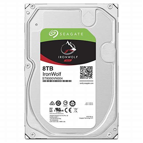 "Seagate IronWolf 3.5"" データ復旧3年付 8TB 内蔵HDD(CMR) 3年保証 24時間稼動 PC NAS 用 RVセンサーST8000VN004"