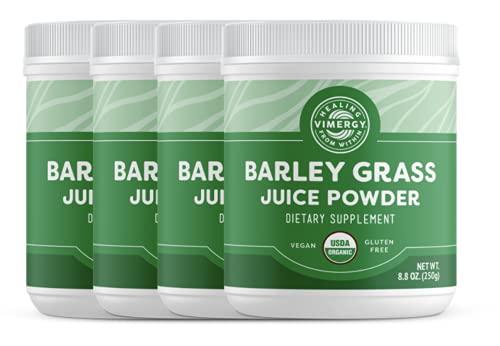 Vimergy USDA Organic Barleygrass Juice Powder (250g) X 4 Bags