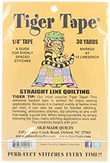 Tiger Tape Quilters Stitching Guide Tape 12 Marks Per Inch 30 Yards