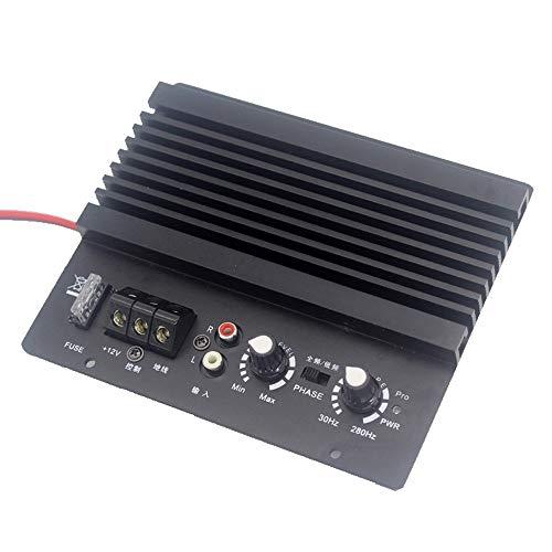 Walmeck Auto Auto Mono Car Audio Hochleistungsverstärker Verstärkerplatine Leistungsstarker Bass Subwoofer 12V Lautsprecher