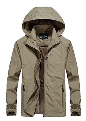 SLSCL chaqueta de los hombres primavera y otoño delgada chaqueta casual joven suelta gran tamaño con capucha chaqueta deportiva