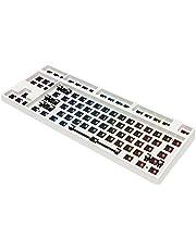 MERIGLARE Hot swappable %80 Özel Mekanik Klavye Kiti RGB Anahtar LED Tip c Yazılım Programlanabilir Balck Beyaz kasa - Beyaz