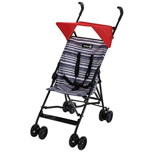 Safety 1st 1182048000 - Safety 1st crazy peps silla de paseo ligera con capota de diseño, plegable y compacta, color blue lines, unisex