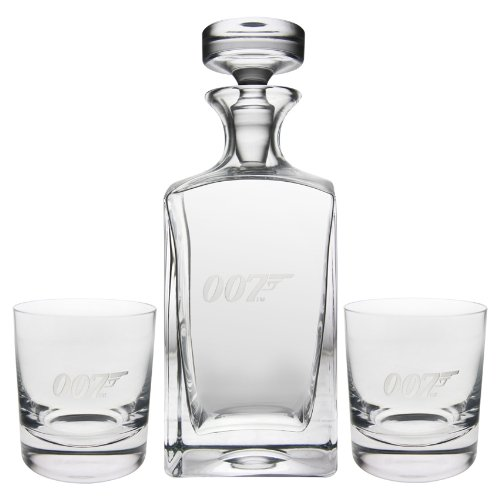 Groovy Uk James Bond 007 Decanter en Whiskey Bril Set