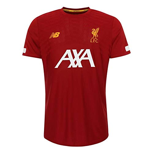 New Balance Mens International Soccer 2019-2020 Pre-Game Jersey Liverpool F.C., Red, Large