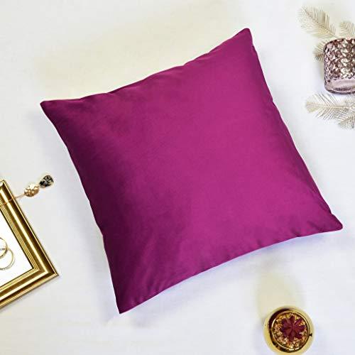 Offtopic Juego de 4 fundas de cojín para sofá, 45 x 45 cm, de terciopelo suave, cojines decorativos, elegantes, color liso, lavable a máquina, color morado