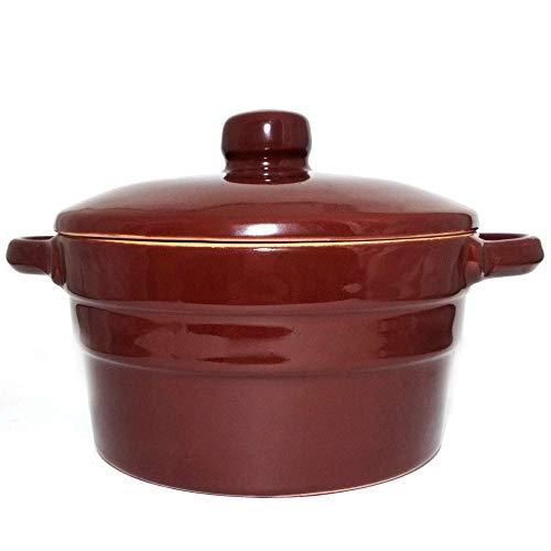 European Small Stoneware Baking Dish with Lid 20.3 fl oz Serving Baking Dish