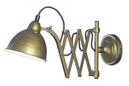 Linoows Schaarlamp, radiogestuurde lamp, wandlamp, wandlamp, wandlamp antiek messing