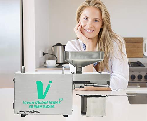 VIVAN GLOBAL IMPEX Home use Oil Press Machine/Oil Maker/Oil Expeller Machine 400w Mustard,Peanut,Sesame Oil etc All Seed Machine