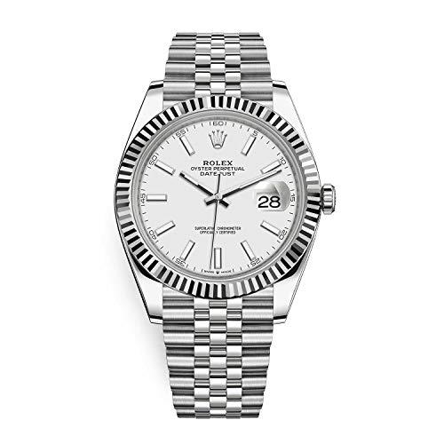 Rolex Datejust 41 White Dial Jubilee Bracelet Luxury Watch Ref. 126334