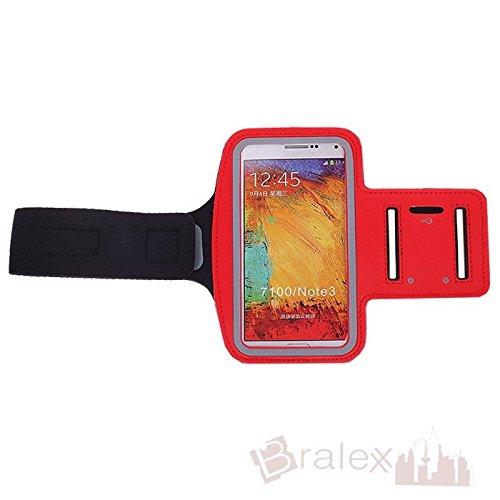 BRALEXX Sporttasche Armtasche Smartphonetasche passend für Jiayu S3 Advanced, Rot