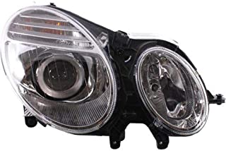 Headlight Assembly Compatible with 2007-2009 Mercedes Benz E320 E350 E550 E63 AMG Halogen From 6-30-2006 Passenger Side