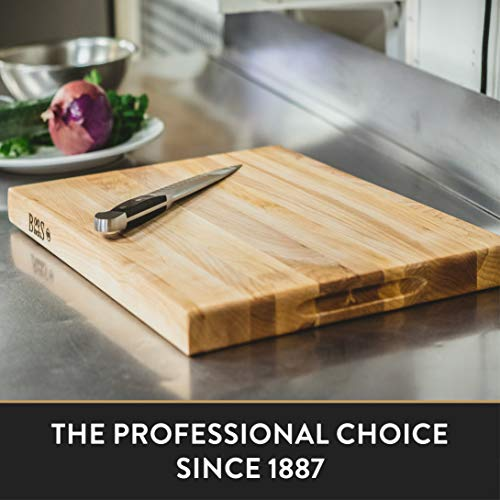 John Boos Block R03 Maple Wood Edge Grain Reversible Cutting Board, 20 Inches x 15 Inches x 1.5 Inches