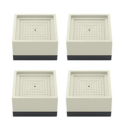 conpoir Lot de 4 Coussinets de Pieds pour Lave-Linge Coussinets Anti-Vibrations carrés Coussinets Anti-dérapants...