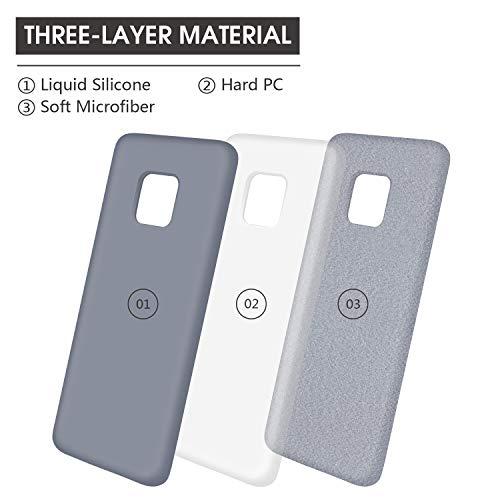 Huawei Mate 20 Pro Hülle Silikon, Abitku Dünn Licht Glatt Stoßfest Schutz Protective Handy Hülle für Huawei Mate 20 Pro (Lavender Gray) - 4