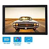 Bewinner 1080P DVB-T / T2 TV Digital para Coche con 14in LED Pantalla-Entrada/Salida de AV, Tarjetas SD y MMC, Dispositivos USB, Puerto HDMI, Puerto VGA-Television HD Portatil con 1800mAh Batería