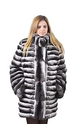 Chinchilla Fur Coat Hooded Handmade Saga Purple Quality ???????? ???? (x-Large)