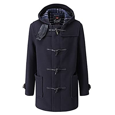 Gloverall Men's Mid Length Duffle Coat 44 Navy