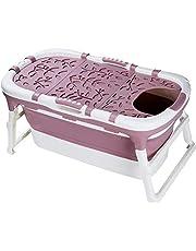 Badkuip vouwen volwassen badkuip opvouwbare siliconen isolatie bad thuis volledige lichaam verdikking draagbare badkuip 112 * 59 * 53cm 329 (Color : Purple+lid)