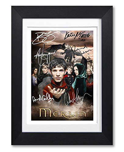 Memorabilia Merlin Cast Signed Autograph Signature Autographed A4 Poster Photo Print Photograph Artwork Wall Art Picture TV Show Series Season DVD Boxset Present Birthday Xmas Christmas (POSTER ONLY)