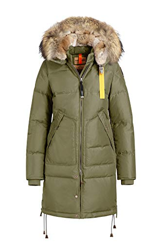 Parajumpers Damen Daunenmantel Parka Long Bear, Farbe:Grün, Größe:M