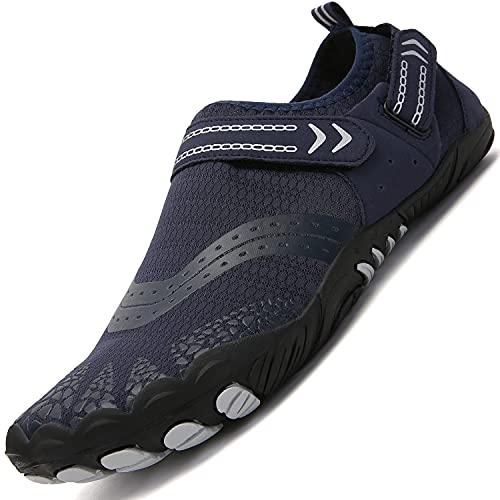 Lvptsh Zapatos de Agua para Hombre Zapatos de Playa Zapatillas Minimalistas de Barefoot Secado Rápido Calcetines de Piel Descalza Escarpines de Verano Deportes Acuáticos,Azul4,EU43
