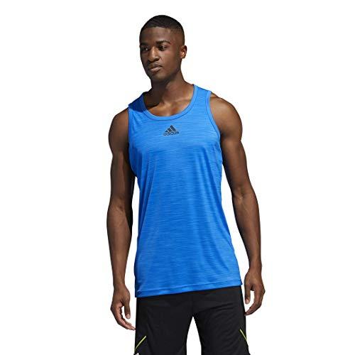 adidas Heathered Tank Top Camisa, Azul Glory, XX-Large para Hombre