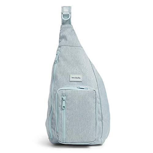 Vera Bradley Recycled Lighten Up Reactive Sling Backpack, Navy Mint Heather