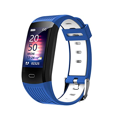 Ablerfly Rastreador de Ejercicios, Temperatura, frecuencia cardíaca, Monitor de presión Arterial, IP68, Reloj Inteligente Deportivo a Prueba de Agua, podómetro, Contador de calorías