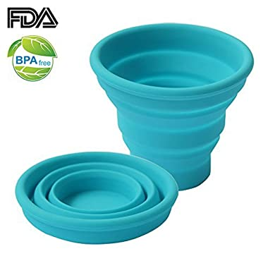 Ecoart Silicone Collapsible Travel Cup for Outdoor Camping and Hiking, Green (1 Pack)