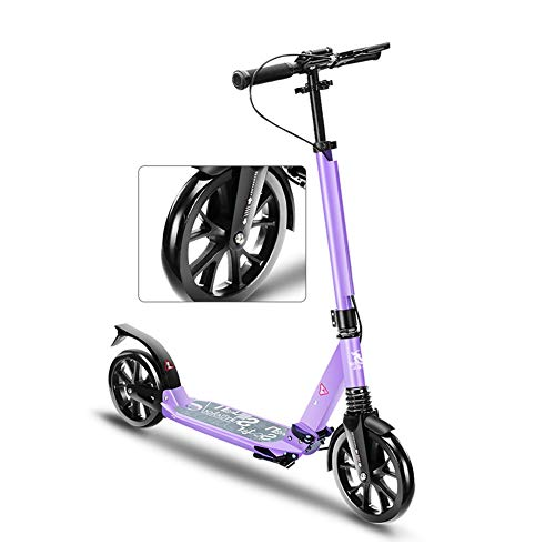 Review Easy-Folding Kick Scooter with 2 Big Wheels, Commuter Street Push Scooter for Adult Teen, Cit...