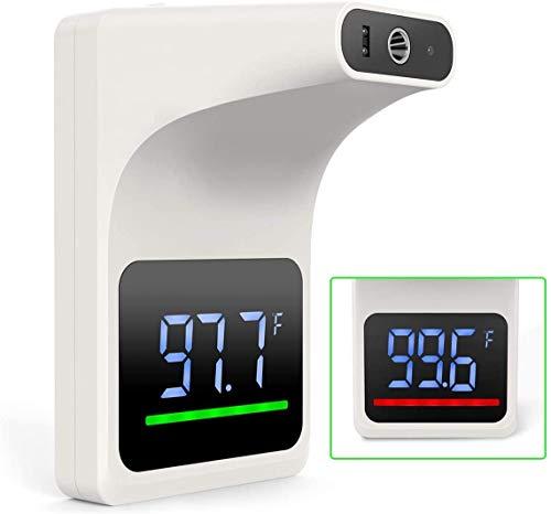 Termómetro de montaje en la pared del termómetro de montaje en pared con termómetro de la frente de la frente de adulto, el termómetro de la frente de los infrarrojos de adulto, el termómetro de monta