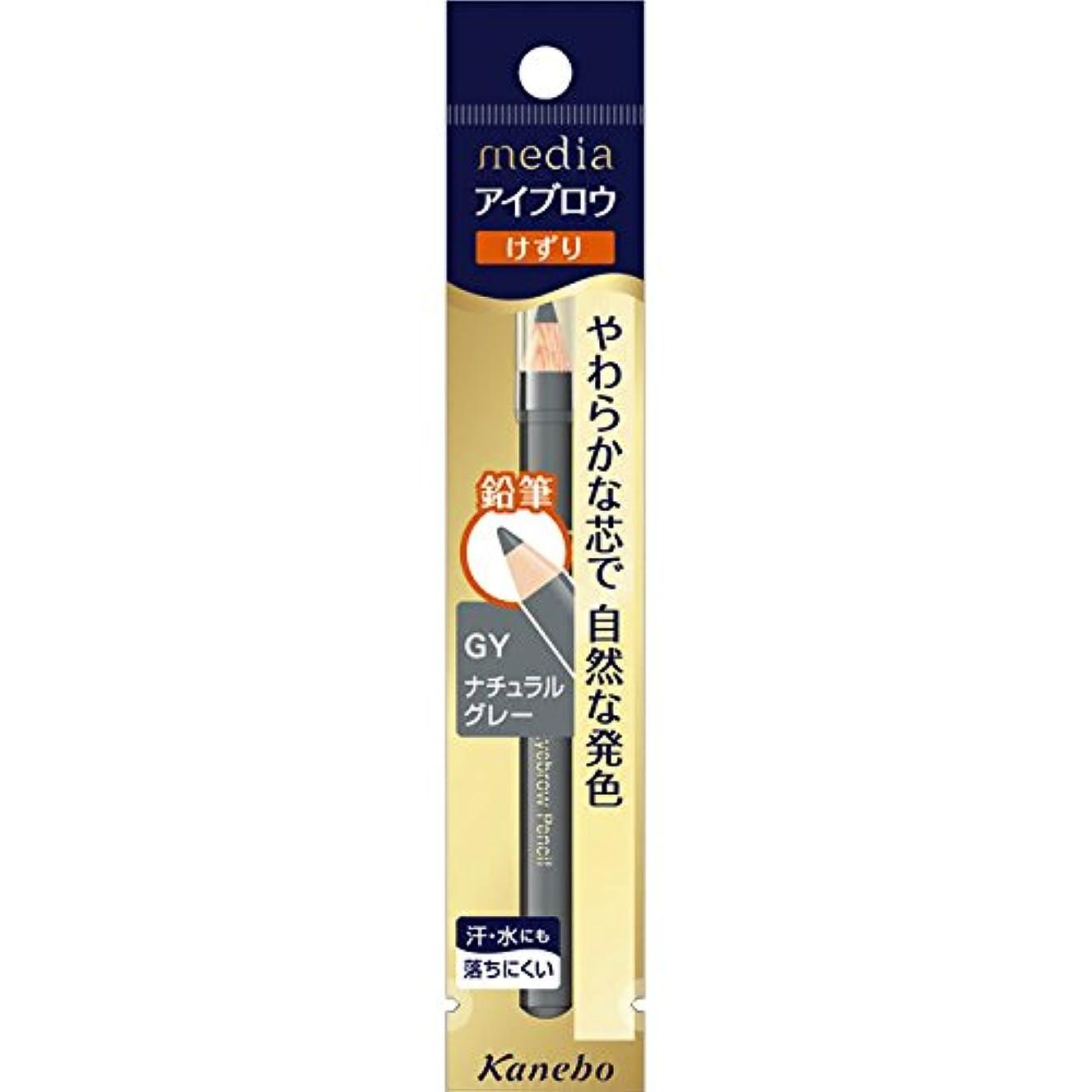 直接臭い前投薬【カネボウ】 メディア アイブロウペンシルA (削り) GY