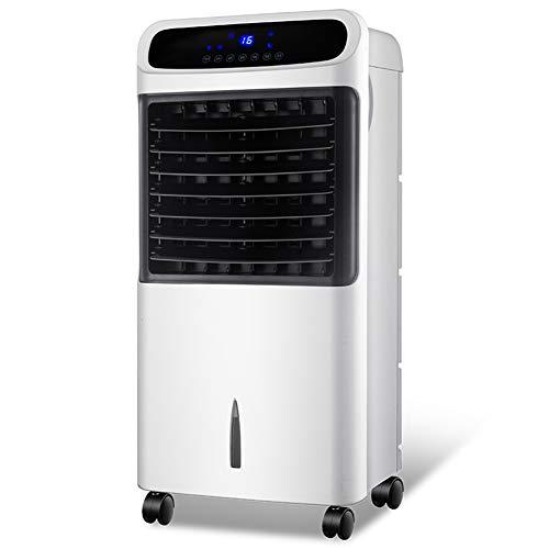 L&T Tragbarer Klimaanlage Fernbedienung Rollen,Vortex Wind Luftkühler 3 Geschwindigkeiten,Tragbarer Klimagerät Weiß