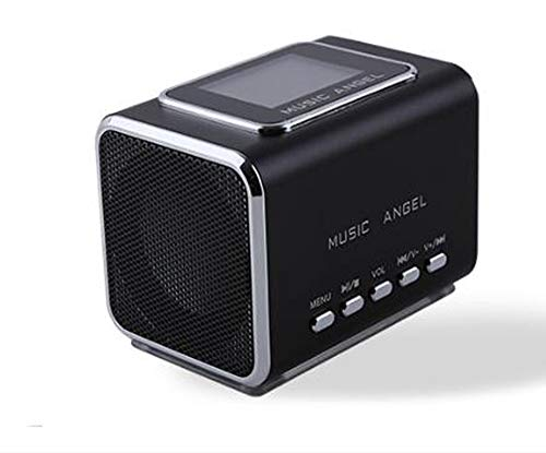 Music Angel JH-MD05X LCD Radio FM portátil Altavoces para PC compatible con tarjeta USB / TF / línea en reproductor de MP3 CLock Alarm altavoz