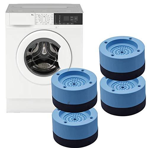 4 st tvättmaskiner fotkuddar, halkskydd antivibration gummimattor tysta fotbrickor, universell vibrationsdämpare för tvättmaskin och torktumlare ökar höjden på maskinerna och minskar buller