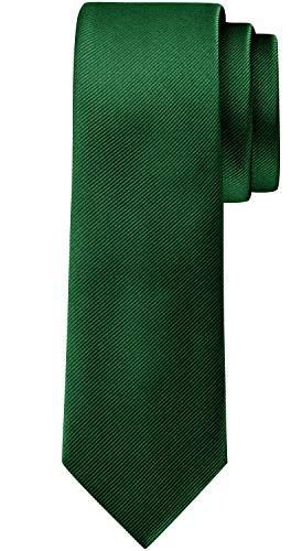 BomGuard 6cm herren-krawatte matt grün schmale weihnachten seide damen männer frauen