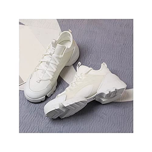 HaoLin Zapatos para Caminar para Mujer, Zapatillas de Malla Ligeras Sin Cordones, Zapatos Transpirables, Zapatillas Deportivas para Mujer, Zapatos para Caminar a La Moda,White-39 EU