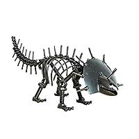 リビングルームオフィスのインテリアのために彫像、手作りメタル恐竜モデル装飾彫刻置物動物装飾工芸ギフトホームデコレーション (Color : Pterosaur)