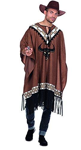 Western Poncho Herren Kostüm Cowboy Wilder Karneval