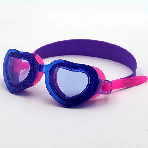 MHP zwembril kinderen siliconen anti-condens veiligheidsbril HD Cartoon zwembril blauw 2