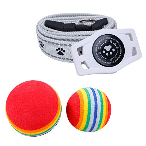 WFGF Collar Inteligente para Perros y Gatos con rastreador GPS - Collar inalámbrico con GPS para Perros y Gatos con Control Remoto y micrófono Impermeable y Recargable