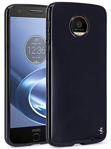 Moto Z Force Case, LK Ultra [Slim Thin] Scratch Resistant TPU Rubber Soft Skin Silicone Protective Case Cover for Moto Z Force Edition (Black)