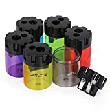 JARLINK 6 Pack Manual Pencil Sharpener, Dual Holes Colorful Sharpener for No.2/Colored/Art Pencils, Kids Adults Portable Sharpener Use in School Office Home and More