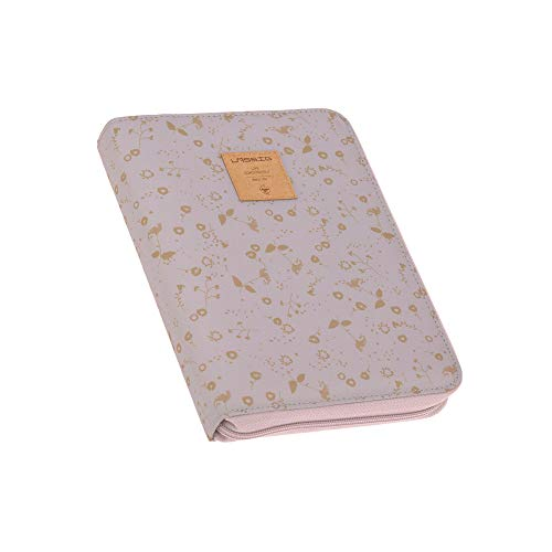 LÄSSIG Mama Moederpaspoorthoes U-boekje tas documententas ultrasoon boekje / Document Pouch, Bloemen lila, violet